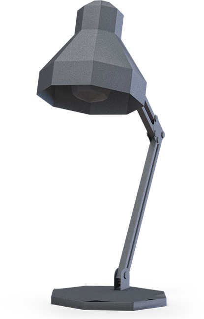 Dark grey lamp